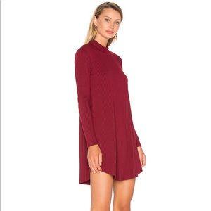 Privacy Please mock neck rib longsleeve mini dress